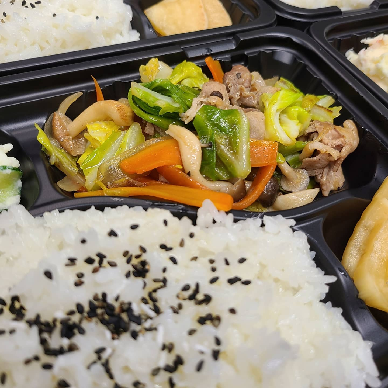 ◎今日のお弁当  ・野菜炒め弁当 ・豚のとろとろ餡かけ丼  ・しょうが焼き弁当
