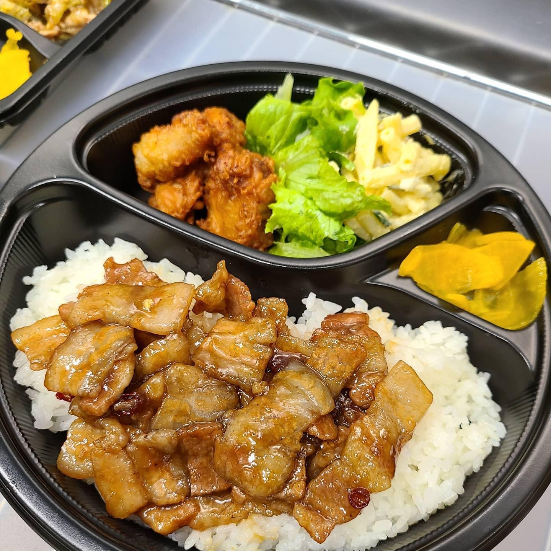 ◎今日のお弁当  ・ルーローハン(魯肉飯) ・唐揚げ弁当 ・肉味噌炒め弁当 ・ローストポーク握り ・回鍋肉弁当