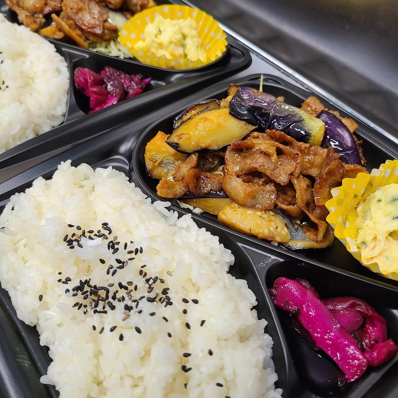 ◎今日のお弁当  ・豚と茄子の辛味噌弁当 ・